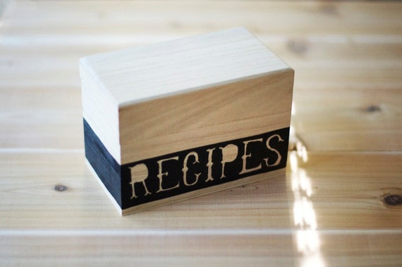 Modern Recipe Cards Modern Wooden Recipe Card Box