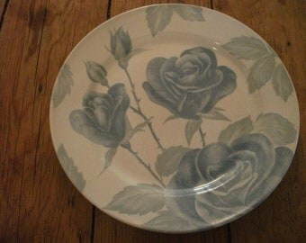 ROSE PRINT PLATE, cottage chic, country