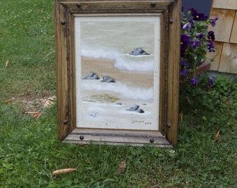 """Ocean Waves Oil Painting 12"""" X 16"""", Oil, Painting, Ocean Waves"""