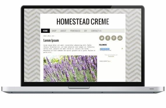 homestead creme premade blogger template. Black Bedroom Furniture Sets. Home Design Ideas