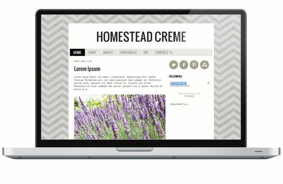 Homestead Creme  - Premade Blogger Template