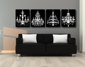 Chandelier canvas combo set classic black