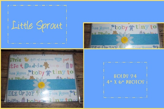"""Little Sprout 4"""" x 6"""" Photo Album - holds 24"""