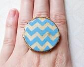 Wood Chevron Ring - Geometric Jewelry - Wood Statement Ring - Nature Inspired Jewelry - Wood Jewelry - Chevron Jewelry
