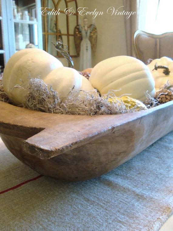 Antique European Dough Bowl, Bread Bowl, Trencher, Wood, from Belgium