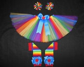 Rainbow Bright tutu set, custom made up to a size 4t