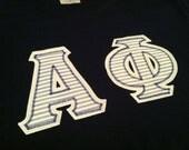 Alpha Phi Custom Sewn Unisex T-shirt