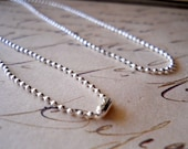 "Ball Chain Necklace 22"" Necklace, Silver Plated Chain, Finished Necklace, Silver Chain, Silver Ball"