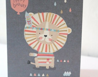 Happy Birthday Little Lion Card