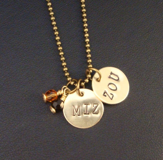 Mizzou Two Charms and Some Bling Necklace