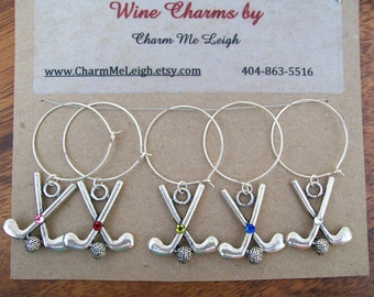 Golf club wine glass charms glass markers - additional shipping