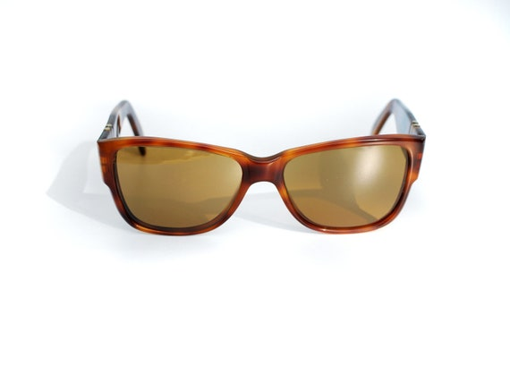 80s Persol Ratti 69218 authentic vintage wayfarer brown tortoise shell Meflecto 1980 handmade Italy FREE shipping Lucky 7