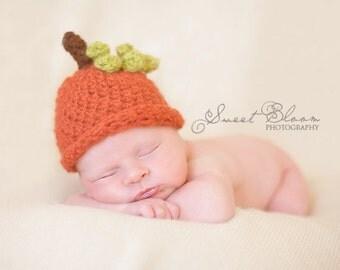 Pumpkin Hat PDF Pattern Fall Newborn- Child Sizes Digital Pattern