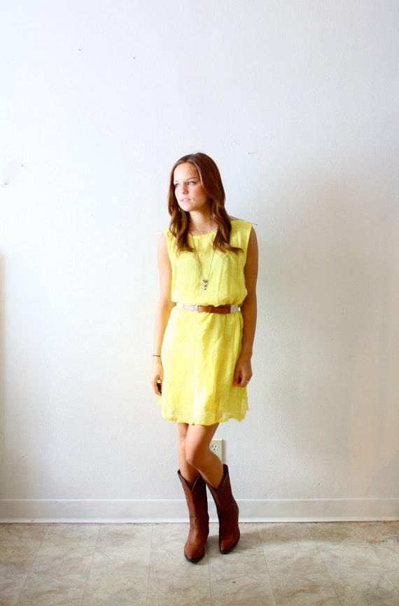 Vintage yellow mini dress
