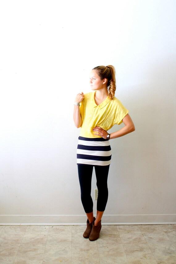 Vintage silk yellow blouse