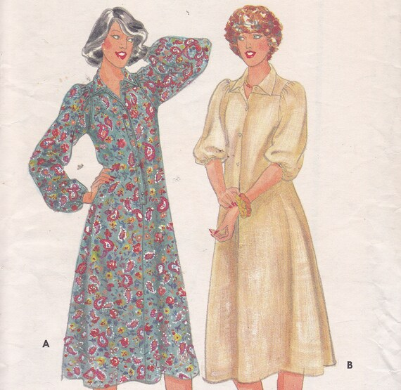 Butterick 5971 Size 16 Bust 38 Fitted and Flared Dress Sewing Pattern one piece shoulder yoke