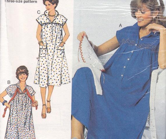 Burda 9453 Dress and blouse maternity sewing pattern 1980s Sizes 36-40
