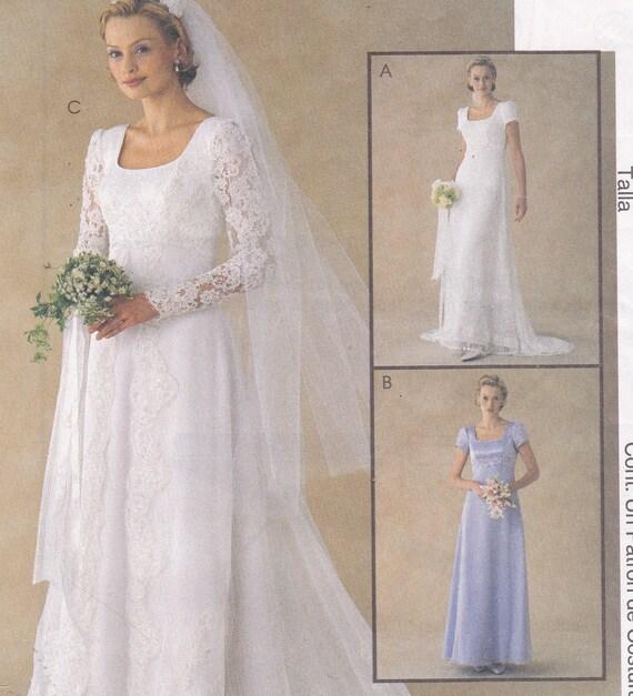 McCalls 2028 Wedding Formal Dress Sewing Pattern By ViennasGrace