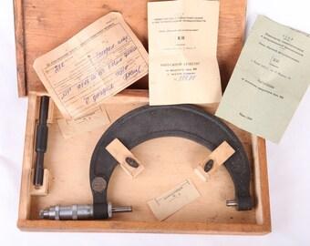 NEW Vintage Soviet ERA Quality Russian MANUAL 125-150mm Micrometer Prec. 0.01mm