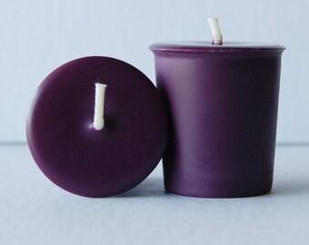 Lavender - Set of 6 Purple Votive Soy Candles