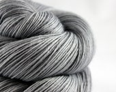 "Sock Yarn Hand Dyed Superwash ""Grey Skies in Manchester"" - UK Seller"