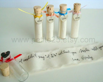 Four (4) Secret message in a bottle - Will you be my Maid of Honor, Bridemaids, Flower Girl