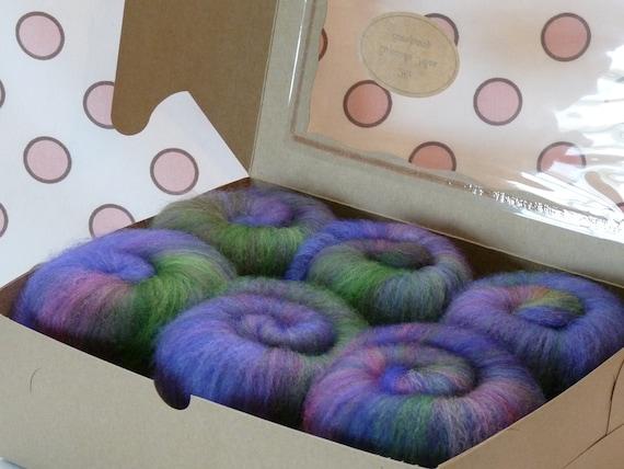 Spinning Fiber Batts - Cupcake Fiber SW BFL/Nylon Sock Fiber Batts - 6 ounces  - Gardenview