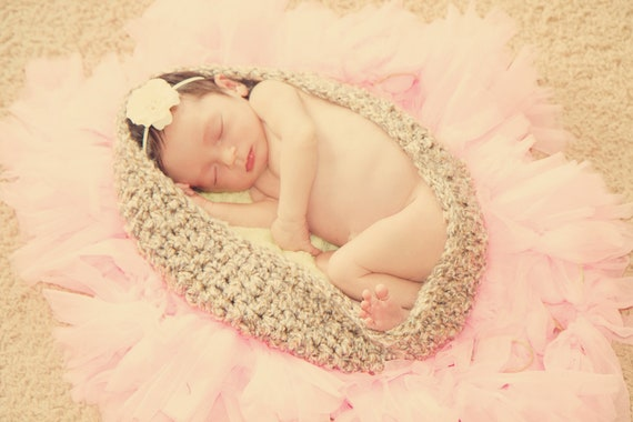 Newborn Baby Bowl Prop--Crocheted Nesting Egg Bowl-Perfect Baby Photo Prop