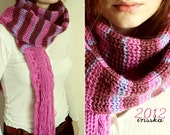Handmade Purple/Violet Striped Scarf: December