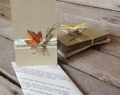 Leaf notecards with Cookbook envelopes -Set of 6