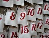 Advent calendar 25 cloth bags