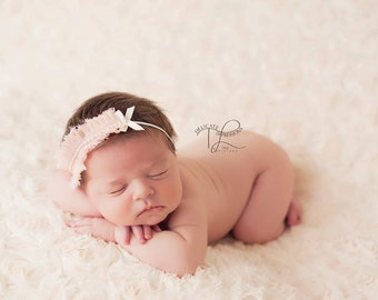 Gorgeous Vintage  Peachy Pink 'Maya Lee' Baby Girl Childs Headband