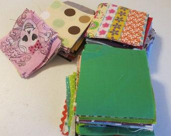 """Destash Fabric 4"""" squares"""