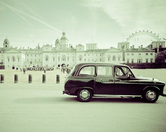 "London photography , travel art print, London Eye, London taxi - ""A London Cabby's Morning"""