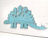 Stegosaurus Large Sign Dinosaur Wall Art  Sign Kids Children's Room Nursery Decor