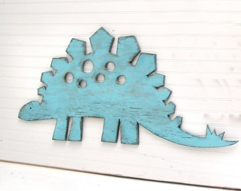 Stegosaurus Large Sign Dinosaur Wall Art  Sign Kids Children's Room Dinosaur Nursery Decor