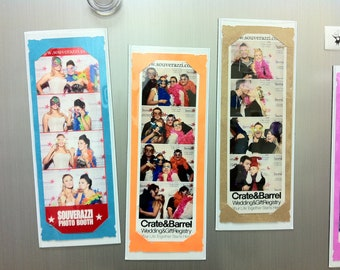 Photo Booth Party Favor Magnetic Card Strip Frames 2x6 photo strips party favor