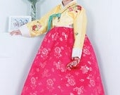 This beautiful traditional Korean dress is called Hanbok