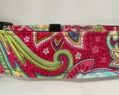 Dog Collar - Dog, Martingale or Cat Collar - All Sizes  - Fuchsia Paisley
