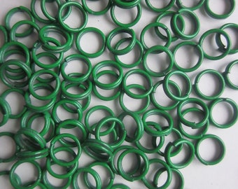 Green Metal Jump Rings 6mm 10 Jump Rings