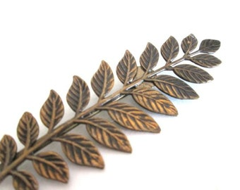 Woodland Fern Leaves Bridal Hair Accessories Bobby Pin Clip