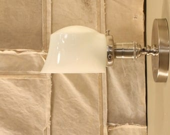 Wall Lighting with Exposed Socket Design with Opal Glass Shade