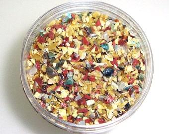 Gallimaufry Frit Blend for Lampwork Bead Making 96 CoE Silver Glass Ltd. Edition Raku Multicolor Magic Chalcedony 2 oz. Jar