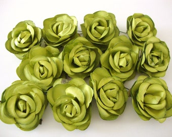 Apple Green Mulberry Paper Roses Flowers Large