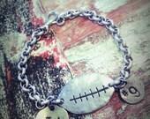Handstamped Football Bracelet