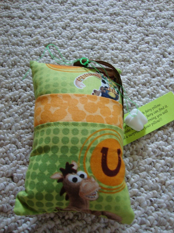 Tooth Fairy Pillow with tooth holder: Toy Story
