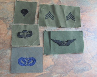 Lot 5 Assorted Old Military Patches