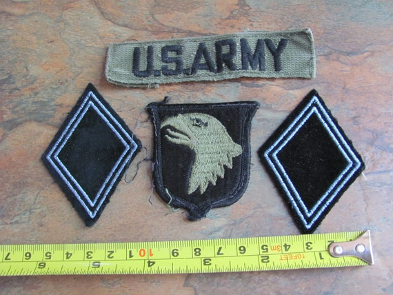 Lot 4 Old Military Patches