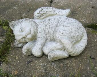 Cat Angel, Concrete Statues, Pet Memorial, Cat Statues, Pet Memorial, Concrete Outdoor or Indoor Statue, Angel Cats, Cement Cat Statue,