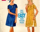 "Butterick Late 60s Dress Pattern - ""One-Piece Dress"" - Butterick 5124 Size 14 Bust 36"
